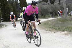 March 10, 2019 - Siena, Italia - Foto LaPresse - Fabio Ferrari.10 Marzo 2019 Siena (Italia).Sport Ciclismo.Gran Fondo Strade Bianche 2019 - Gara uomini - da Siena a Siena. Nella foto: durante la gara.Pozzato..Photo LaPresse - Fabio Ferrari.March, 10 2019 Siena (Italy) .Sport Cycling.Gran Fondo Strade Bianche 2018 - Men's race - from Siena to Siena - 184 km (114,3 miles).In the pic: during the race.Pozzato (Credit Image: © Lapresse via ZUMA Press)