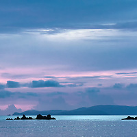 Colorful sky and sea during sunset in Koh Phayam.