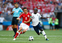 Thomas Delaney (Denmark) and Ngolo Kante (France)<br /> Moscow 26-06-2018 Football FIFA World Cup Russia  2018 <br /> Denmark - France / Danimarca - Francia<br /> Foto Matteo Ciambelli/Insidefoto