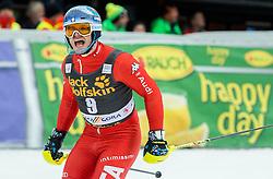 Second placed RAZZOLI Giuliano of Italy celebrates during 2nd Run at Men Slalom race of FIS Alpine Ski World Cup 54th Vitranc Cup 2015, on March 15, 2015 in Kranjska Gora, Slovenia. Photo by Vid Ponikvar / Sportida