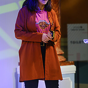 London, England, UK. 10th November 2017. Quickfire Coding with 23 Code Street's Anisah Osman Britton at the Stylist Live 2017 at Olympia London.