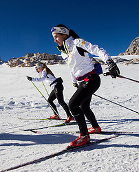 during Training camp of Slovenian Cross country Ski team on October 23, 2012 in Dachstein Getscher, Austria. (Photo By Vid Ponikvar / Sportida)
