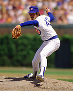 CHICAGO - 1986:  Dennis Eckersley of the Chicago Cubs pitches during an MLB game at Wrigley Field in Chicago, Illinois during the 1986 season. (Photo by Ron Vesely)  Subject:   Dennis Eckerlsey