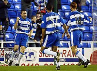 Photograph: Scott Heavey.<br />Reading v Watford. Nationwide Division One. 29/11/2003.<br />Nicky Forster celebrates Readings first