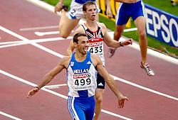 10-08-2006 ATLETIEK: EUROPEES KAMPIOENSSCHAP: GOTHENBORG <br /> Iakovakis, Periklis (GRE) wint de 400 meter horden<br /> ©2006-WWW.FOTOHOOGENDOORN.NL