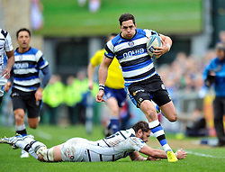 Horacio Agulla (Bath) goes on the attack - Photo mandatory by-line: Patrick Khachfe/JMP - Tel: Mobile: 07966 386802 06/04/2014 - SPORT - RUGBY UNION - The Recreation Ground, Bath - Bath Rugby v Brive - Amlin Challenge Cup.