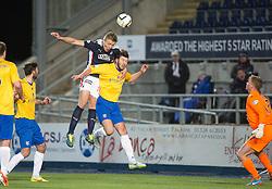 Falkirk's Peter Grant. <br /> Falkirk 1 v 0 Cowdenbeath, Scottish Championship game played 31/3/2015 at The Falkirk Stadium.