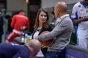DESCRIZIONE : Campionato 2015/16 Serie A Beko Dinamo Banco di Sardegna Sassari - Consultinvest VL Pesaro<br /> GIOCATORE : Valentina Sanna Stefano Sardara<br /> CATEGORIA : Ritratto Before Pregame Fair Play<br /> SQUADRA : Dinamo Banco di Sardegna Sassari<br /> EVENTO : LegaBasket Serie A Beko 2015/2016<br /> GARA : Dinamo Banco di Sardegna Sassari - Consultinvest VL Pesaro<br /> DATA : 23/11/2015<br /> SPORT : Pallacanestro <br /> AUTORE : Agenzia Ciamillo-Castoria/L.Canu