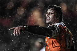 Cheetahs' Francois Venter in action during todays match<br /> <br /> Photographer Craig Thomas/Replay Images<br /> <br /> Guinness PRO14 Round 18 - Dragons v Cheetahs - Friday 23rd March 2018 - Rodney Parade - Newport<br /> <br /> World Copyright © Replay Images . All rights reserved. info@replayimages.co.uk - http://replayimages.co.uk