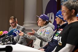 Ilka Stuhec during press conference after the end of Alpine Ski season 2018/19, on March 25, 2019, in Narodni dom, Maribor, Slovenia. Photo by Milos Vujinovic / Sportida