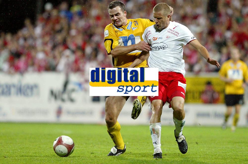 Fotball , 20. september 2006 , semifinale NM , cupen , Fredrikstad - Start 3-2 eeo,<br /> Todi Jönsson , Start mot Patrik Gerrbrand , Fredrikstad