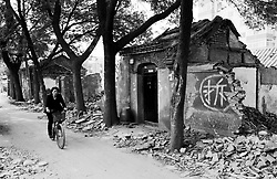 Hutong being demolished in Beijing China
