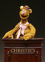 Fozzie Bear at Christie auction house.