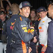 NLD/Zandvoort/20180520 - Jumbo Race dagen 2018, Daniel Ricciardo en Max Verstappen
