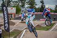#595 (MOLINA Gonzalo) ARG and #737 (GERBAUDO Agustin) ARG at the 2016 UCI BMX Supercross World Cup in Santiago del Estero, Argentina