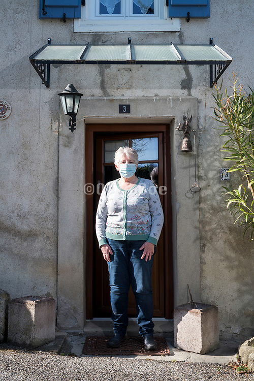Senior woman living alone portrait during the 2020 Covid-19 crisis France