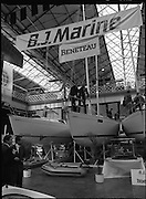 The 1989 Boat Show.   (R89)..1989..10.03.1989..03.10.1989..10th March 1989..Pat the Cope GallagherTD, Minister for the Marine attended the opening of the 1989 Boat Show held at the Point Depot, Dublin. The opening coincided with the minister's birthday...Minister Gallagher is pictured aboard one of the many yaches for sale at the Boat Show in the Point Depot,East Wall, Dublin.
