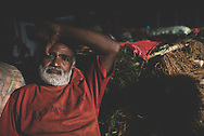 A man takes a break at the Dambulla wholesale produce market in Sri Lanka.