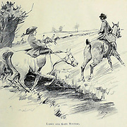 Larry and Kate Masters from the book The sport of our ancestors; being a collection of prose and verse setting forth the sport of fox-hunting as they knew it; by baron Willoughby de Broke, Richard Greville Verney, 1869-1923; and illustrated by Armour, G. D. (George Denholm),  Published in London by Constable and co. ltd. in 1921