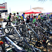 A few months ago, 6th Avenue and 7th Street was narrowed in order to make the area more bicyclist- and pedestrian-friendly. Cyclovia Tucson highlights the need for more bike parking.