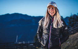 22.10.2018, Rosshuette, Seefeld, AUT, Teresa Stadlober im Portrait, im Bild Teresa Stadlober (AUT) posiert während einer Fotosession // the Austrian Cross Country Skiier Teresa Stadlober poses for a portrait during a photo session at the Rosshuettte in Seefeld, Austria on 2018/10/22. EXPA Pictures © 2018, PhotoCredit: EXPA/ JFK