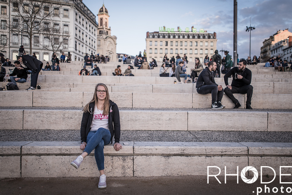 on a visit with Julie Allemand in Lyon.<br /> <br /> Lyon, march 2018