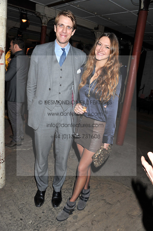 BEN & MARY-CLARE ELLIOT at a party to celebrate the launch of the new Vertu Constellation phone - the luxury phonemakers first touchscreen handset, held at the Farmiloe Building, St.John Street, Clarkenwell, London on 24th November 2011.