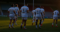 Racing 92 players take to the pitch for the start of the game