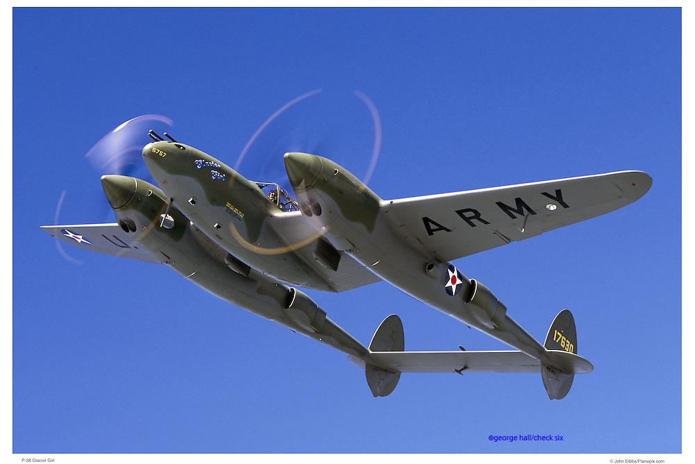 P-38 Glacier Girl, air-to-air