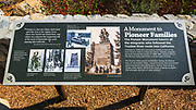 Interpretive sign at Donner Memorial State Park, Truckee, California USA