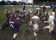 29 Feb 2010 Esher, Surrey: England players warm down after the Women's Six Nations game between England and Ireland at Esher Rugby Club (photo by Andrew Tobin/SLIK images)