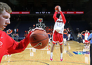 Dec. 07, 2010; Charlottesville, VA, USA; Radford Highlanders forward Tolga Cerrah (41) shoots the ball before the game against the Virginia Cavaliers at the John Paul Jones Arena. Photo/Andrew Shurtleff