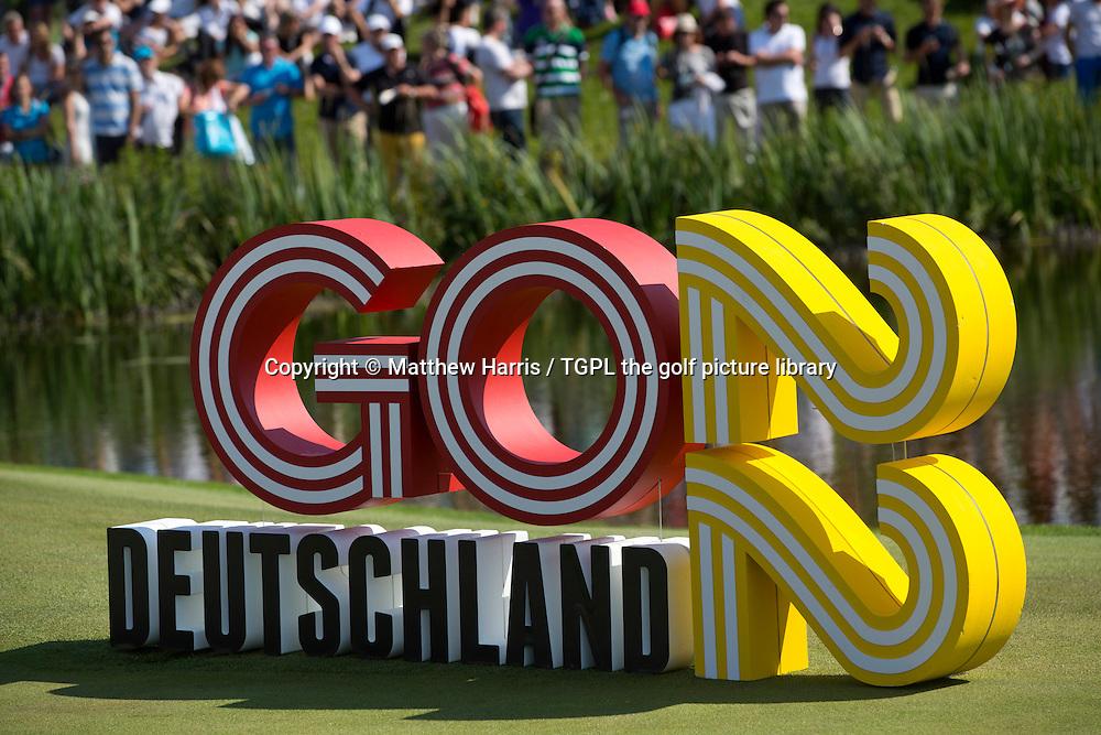 GO DEUTSCHLAND 22 PROMOTION FOR GERMANY TO HOST 2022 Ryder Cup Matches during fourth round BMW International Open 2015,Golfclub Munchen Eichenied,Munich,Germany