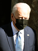 Joe Biden and First Lady took part in morning Mass<br /> The US President and his wife Jill attended a service at the Sacred Heart and St. Ia Catholic Church in St Ives.photo by Krisztian Kobold Elek