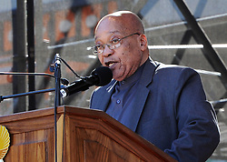 August 8, 2017: FILE: South Africa's parliament debates over a no-confidence motion on President JACOB ZUMA, debate is also over the future of the ruling African National Congress. The former liberation movement has led South Africa since the first all-race elections in 1994, but some parliament members warn that the ANC will lose support if Zuma is allowed to stay in office. If the no-confidence motion succeeds, Zuma will have to resign immediately. He has survived such votes in the past, but this is the first to use a secret ballot. The ANC had its worst showing last year in municipal elections as Zuma faced allegations of corruption. Pictured: JOHANNESBURG, June 16, 2016 (Xinhua) -- South African President Jacob Zuma delivers a speech during the commemoration of the Youth Day in Soweto, south of Johannesburg, South?Africa, on June 16, 2016. In commemorating the Youth Day,?South?African President Jacob Zuma on Thursday called on his fellow countrymen to assist in ridding the society of the social ills affecting the youth.?(Xinhua/DOC/Kopano Tlape) (Credit Image: © Xinhua via ZUMA Wire)