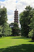 The Pagoda Japansese Tower, Royal Botanic Gardens, Kew, London, England, UK