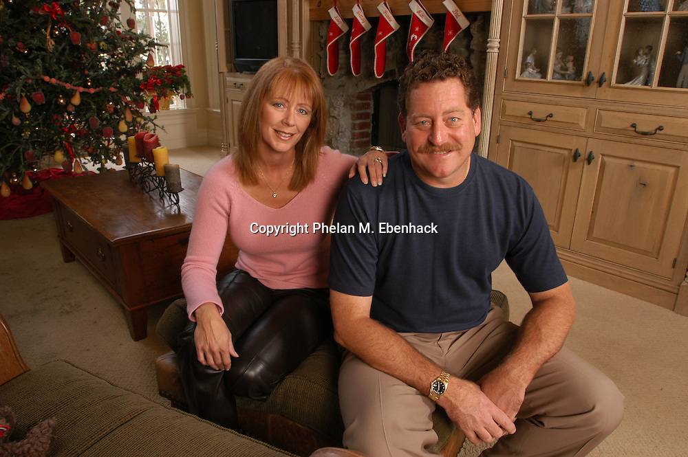 Former Major League Baseball pitcher Frank Viola, right, and his wife Kathy sit in their home in Orlando, Florida.  Viola is a former World Series MVP and Cy Young Award winner.