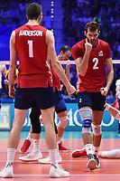 Celebration of Aaron Russell and Matthew Anderson of USA.<br /> Torino 30-09-2018 Pala Alpitour <br /> FIVB Volleyball Men's World Championship <br /> Pallavolo Campionati del Mondo Uomini <br /> Finals / 3th place<br /> Serbia - USA  <br /> Foto Antonietta Baldassarre / Insidefoto