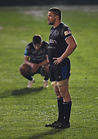 Rugby Union - 2020 / 2021  European Rugby Challenge Cup - Semi-final - Bath vs Montpellier - Recreation Ground<br /> <br /> Bath Rugby's Charlie Ewels dejected as they lose 19-10.<br /> <br /> COLORSPORT/ASHLEY WESTERN