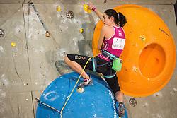 Katharina Posch (AUT) during women final competition of IFSC Climbing World Cup Kranj 2014, on November 16, 2014 in Arena Zlato Polje, Kranj, Slovenia. (Photo By Grega Valancicr / Sportida.com)