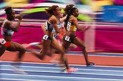 March 2, 2018 - Birmingham, Gangwon, United Kingdom - Remona Burchell ofJamaica at 60m, heat 1, at World indoor Athletics Championship 2018, Birmingham, Englandon March 2, 2018. (Credit Image: © Ulrik Pedersen/NurPhoto via ZUMA Press)