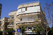 Bauhaus Architecture at 10 Aharonovich Street, Tel Aviv White City. The White City refers to a collection of over 4,000 buildings built in the Bauhaus or International Style in Tel Aviv from the 1930s by German Jewish architects who emigrated to the British Mandate of Palestine after the rise of the Nazis. Tel Aviv has the largest number of buildings in the Bauhaus/International Style of any city in the world. Preservation, documentation, and exhibitions have brought attention to Tel Aviv's collection of 1930s architecture.