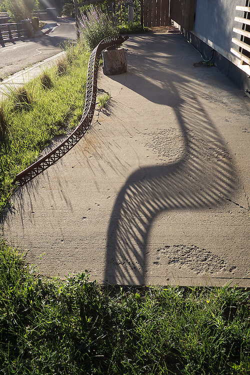 Dragons tail shadows sculpture, steel, handmade