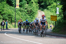 Ashleigh Moolman Pasio leads the first time up Cauberg at Boels Hills Classic 2016. A 131km road race from Sittard to Berg en Terblijt, Netherlands on 27th May 2016.