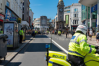Black Lives Matter demonstration takes place on Brighton seafront  with around 10,000 people turning up Photo by Mark Anton Smith