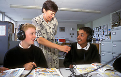 French lesson; secondary school; West Yorks
