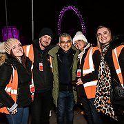 London, England, UK. 31 Dec 2019. Sadiq Khan is a Mayor of London attends the 2019 London's New Year's Eve fireworks at the Embankment.