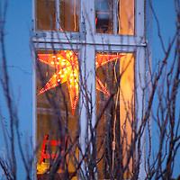 Window scene, Reykjavik, Iceland on Christmas day 2013.