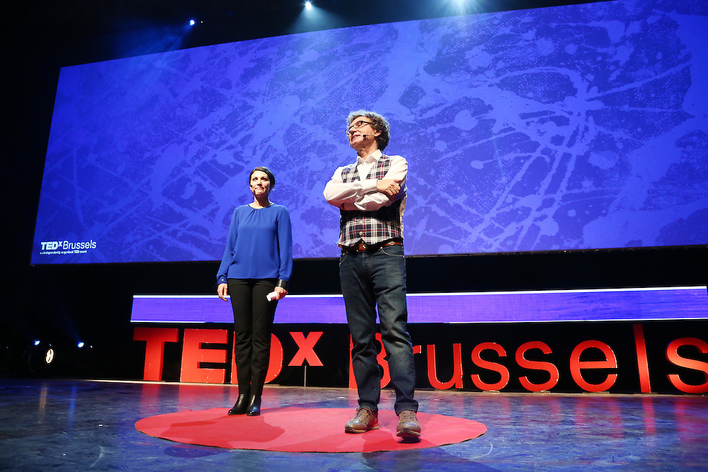 Session IV - Health - 01 December 2014<br /> <br /> Walter De Brouwer , Samia De Brouwer <br /> <br /> TEDX BRUSSELS 2014 - The Territory and the MAP -  Belgium - Brussels - October 2014 © TEDx Brussels/Scorpix