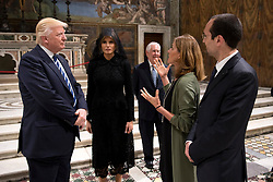 Mr. Donald Trump, President of the United States of America, during a private visit to the Basilica of St. Peter and the Vatican Museums.<br /><br />EDITORIAL USE ONLY. NOT FOR SALE FOR MARKETING OR ADVERTISING CAMPAIGNS.